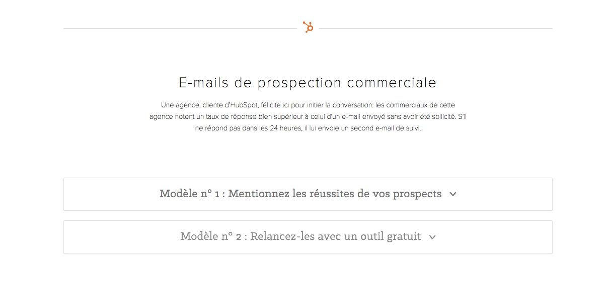 Vos emails de prospection commerciale