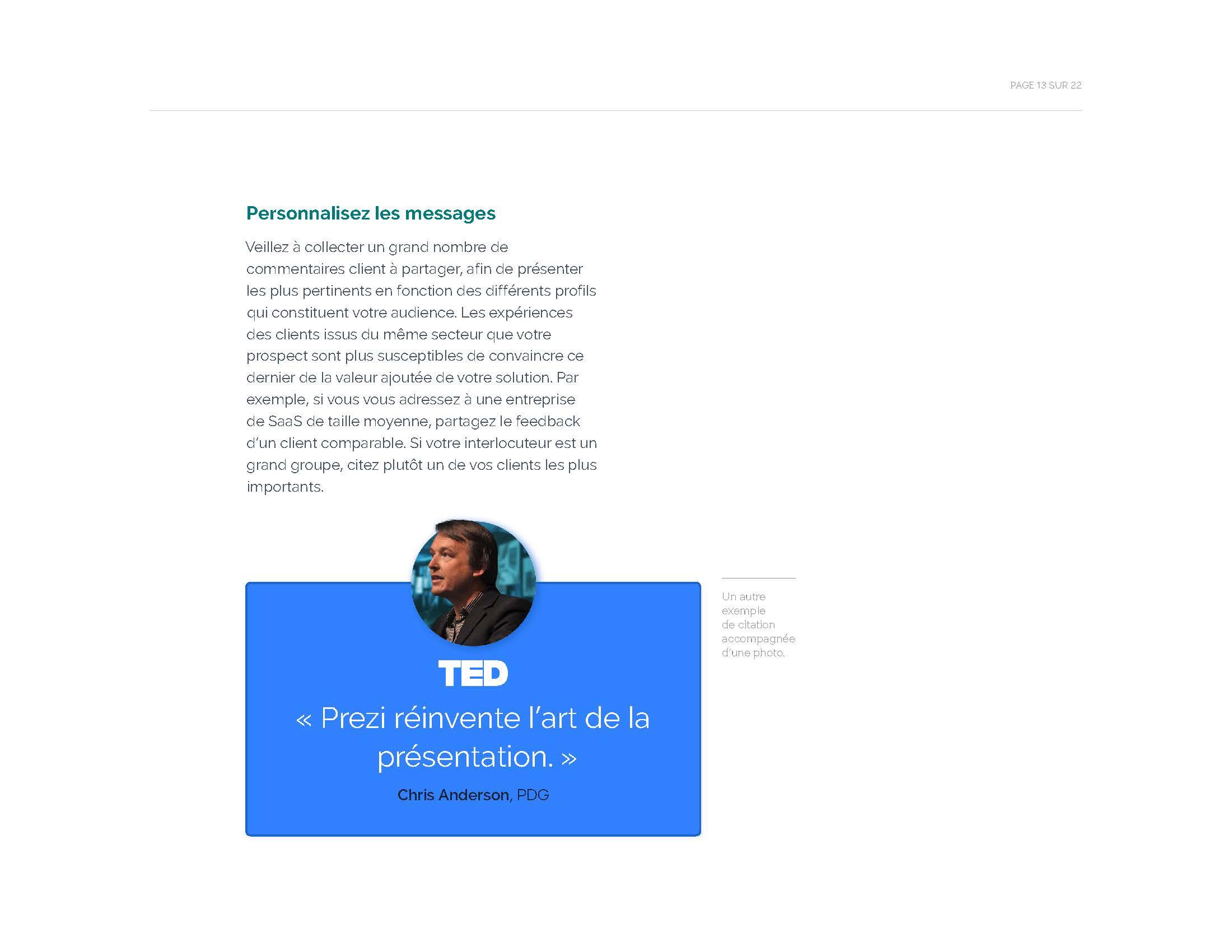 Comment créer une présentation commerciale qui permet de conclure des transactions