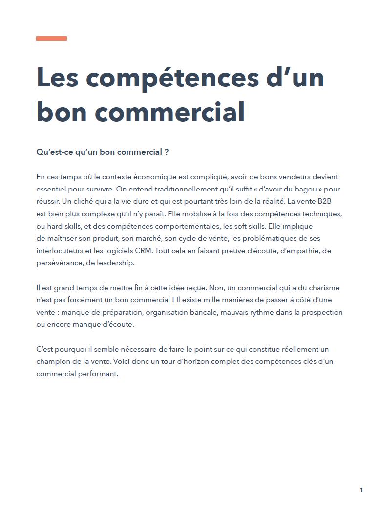 Les competences d'un bon commercial pdf