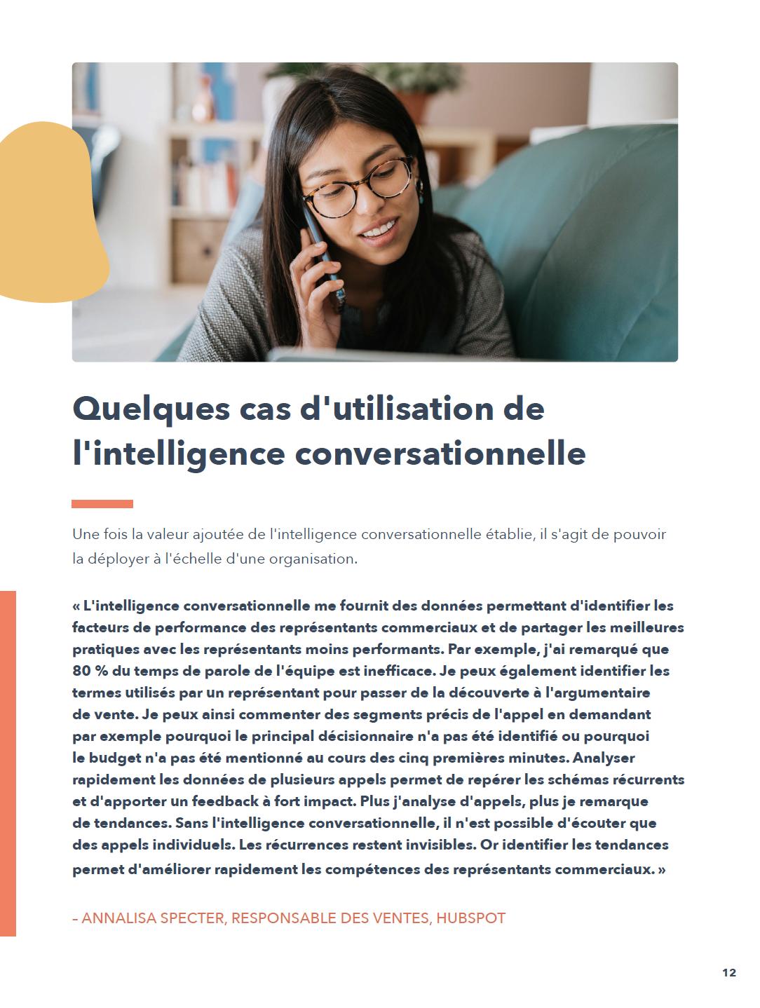 Utilisation intelligence connversationnelle