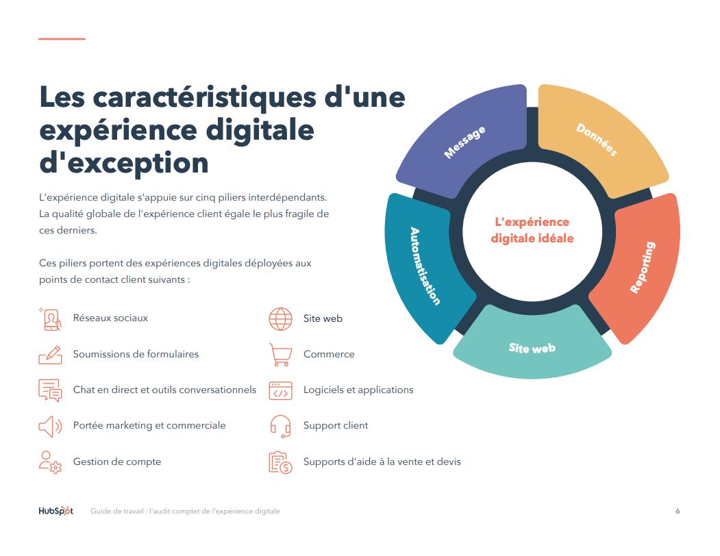 E-book Caractéristiques de l'expérience digitale