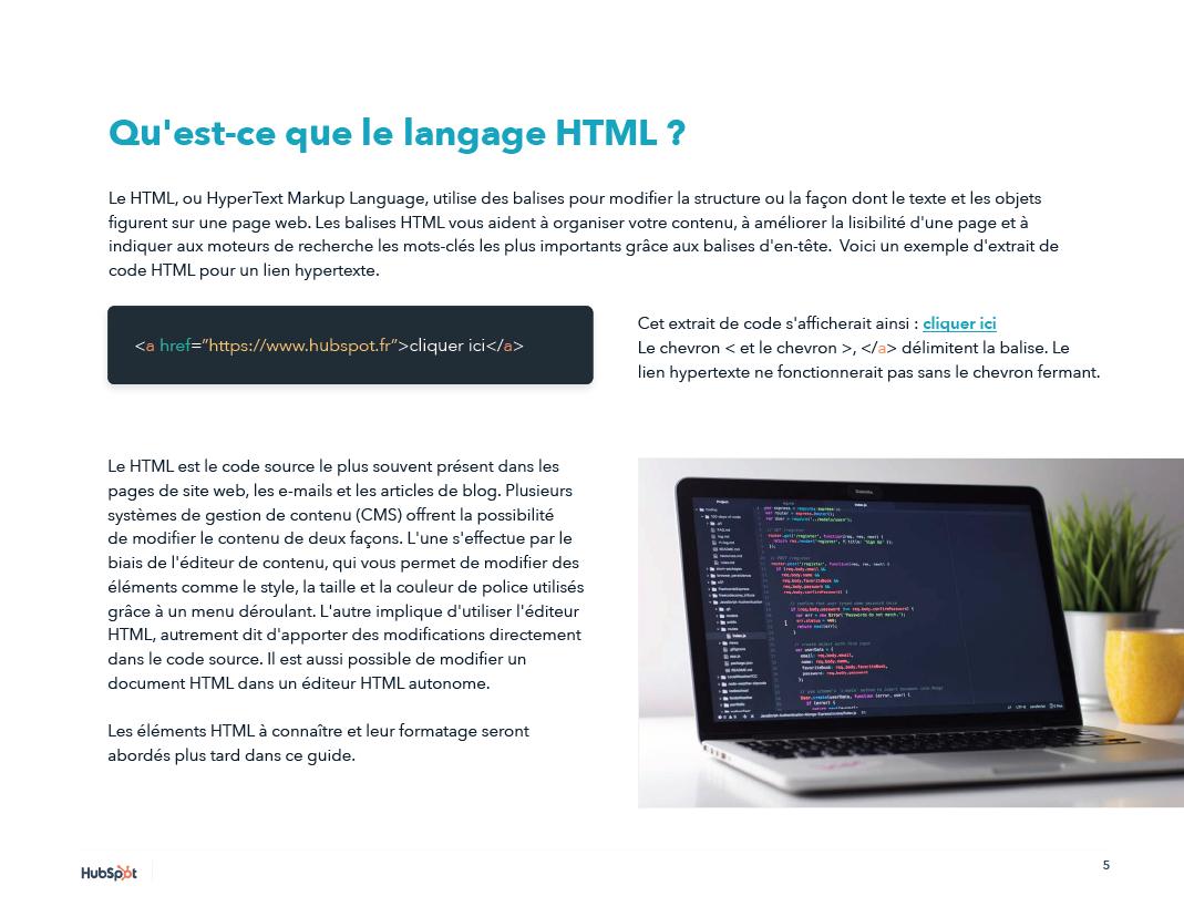 qu'est-ce que html